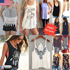 Ladies Women Summer Lace Vest Top Sleeveless Casual Tank Blouse Tops T-Shirt