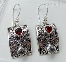 Gemstone Solid Silver, 925 Balinese Traditional Earring 27729