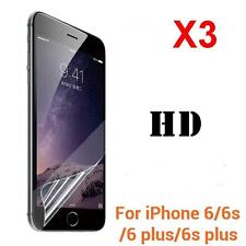 3PC Front / Back Clear Film HD LCD Screen Protector For iphone 7 6s Plus 5S SE