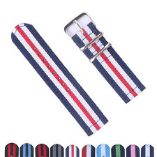 18mm 20mm 22mm 24mm Stripes Cambo Nylon Watch Strap Band Watchband Buckle