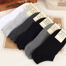 5 Pairs New Men Casual Sports Socks Crew Ankle Low Cut Cotton Socks 9-12 NEW