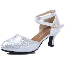 Comfort Synthetic Leather Block Med Heel Square Dance Lady Shoes AU Sizes s3026