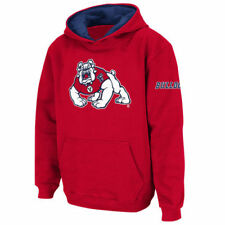 Fresno State Bulldogs Stadium Athletic Youth Big Logo Pullover Hoodie - NCAA