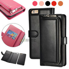 Luxury PU Leather 2 in 1 Flip Wallet Case Removable Cover for iPhone 6 6S 7 Plus