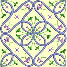 Anemone Quilt Squares 2-DESIGN 5-an Anemone Machine Embroidery single in 4 sizes
