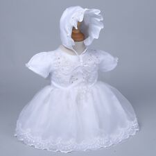 Newborn Infant Baby Girl Christening Baptism Formal Dress Tutu Gown 3-12 months