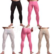 See-through Cool Long Pants, Mens Sexy Tight Yoga Trousers,Mesh Underwear Hot