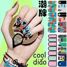 Fashional Environmental friendly Nail Art Stickers Wraps Decals Water Transfers