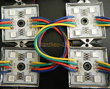 20PCS 5050 4 LED Module light RGB Waterproof Advertise Screen Display String 12V