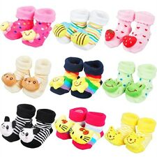 Mixed Style Newborn 0-10 Months Baby Cartoon Animal Boots Socks Slipper Shoes