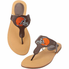 Cleveland Browns Cuce Shoes Women's Team Sandals - Brown - NFL
