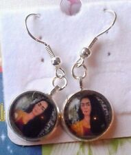 """MOTHERS DAY JEWELLERY ARTIST/ICON """"FRIDA KAHLO""""  SILVER PLATED  DROP EARRINGS"""