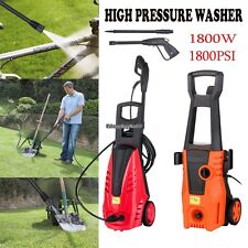 New US High Pressure Washer Cleaner 1800 PSI Jet Wash Electric Pump Gurney #EH7E