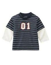 NWT Gymboree Lil Slugger Stripe Baseball Shirt Top 3-6 6-12 mo U Pick