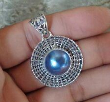 Mabe Pearl Solid Silver, 925 Bali Handcrafted Pendant 28784