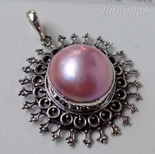 Mabe Pearl Bali Handcrafted Solid Silver, 925 Pendant 32815
