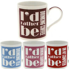 I'D RATHER BE FUNNY MUG COFFEE CUP TEA MUGS GIFT NOVELTY SET HOME OFFICE NEW