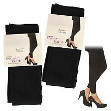 Womens Ladies Thermal Leggings Black Footless Warm Winter Heat Trapper Tight