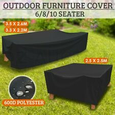 Outdoor 600D Polyeter Waterproof 6 / 8 / 10 Seater Furniture Cover UV Protection