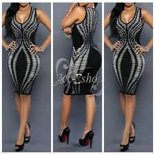 Sexy Women's Sleeveless Bodycon Cocktail Evening Party Short Mini Dress Fashion
