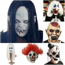 Halloween Mask Toothy Zombie Ghost Clown Evil Mask Scary Emulsion Skin Cosplay