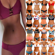Women Triangle Padded Bra Push-up Swimwear Bikini Set Swimsuit Bathing Suit New