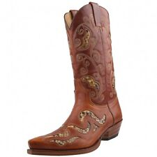 NEW SENDRA BOOTS PYTHON COWBOY BOOTS BOOTS 7490 Brown