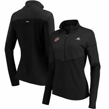 Houston Dynamo adidas Women's climalite Half-Zip Pullover Jacket - Black - MLS