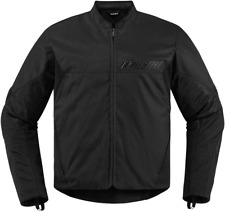 Mens Icon Black Textile Stealth Konflict Motorcycle Riding Street Racing Jacket