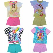 Girls Disney Beauty and Beast, Shopkins, MLP Summer Pyjamas Pjs Ages 3 to 10 Yrs