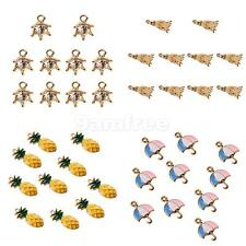 10Pcs Cute Mixed Shaped Charm Pendants for Necklace Bracelet DIY Jewelry Making