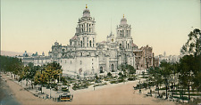 Mexico, Mexico City, The Cathedral. vintage photochromie, photochromie, vintag