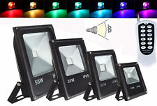 10/20/30/50W Outdoor Floodlights RGB Led light Wireless Remote control 50m+ IP65