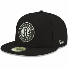 Brooklyn Nets New Era Official Team Color 59FIFTY Fitted Hat - Black - NBA