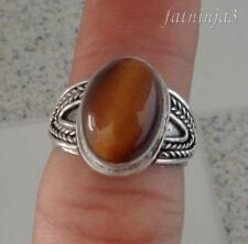 Tigereye Solid Silver, 925 Bali Handcrafted Ring 38053