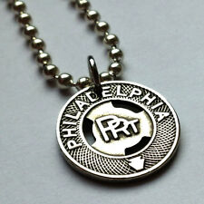 PRT Philadelphia Rapid Transit Vintage Trolley Token pendant necklace n001030