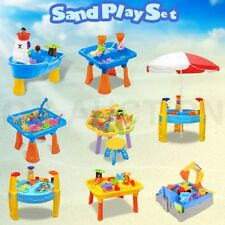 Kids Sand and Water Beach Children Activity Play Table Outdoor Toy Set