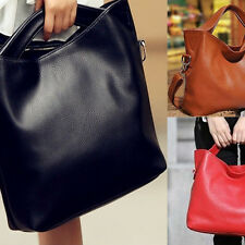 Womens Fashion Large Hot Bucket Solid Casual Shoulder Satchel Tote Bag Handbag