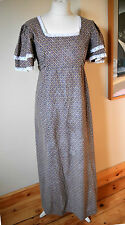 Iconic Vintage Laura Ashley Edwardian / Victorian Prairie Dress Made In Wales