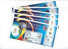 2002 FIFA World Cup KOREA/JAPAN Matches 34 thru 58 Unused Tickets