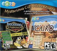 Mysterious City Adventures: Cairo/Vegas (PC, 2009) NEW SEALED Win XP/Vista CD