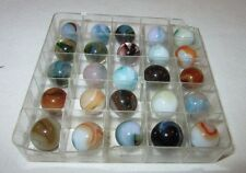 """Lot of 25 9/16- 5/8"""" Player Size Marbles Jabo Classic Marbles NMS99"""