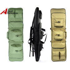 "1X 38"" Airsoft Tactical Hunting Dual AEG Rifle Gun Bag Carrying Case Backpack"