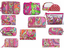 NWT VERA BRADLEY PINK SWIRLS COLLECTION WALLETS & ACCESSORIES - FREE SHIPPING