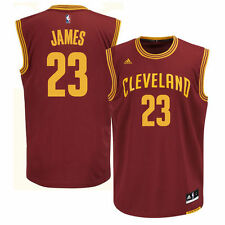 LeBron James Cleveland Cavaliers adidas Replica Road Jersey - Wine - NBA