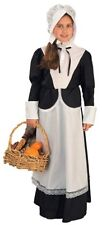 Pilgrim Girl Dress Bonnet Colonial Amish Pioneer Quaker Child Girls Costume