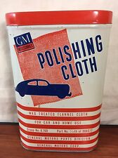 Vintage General Motors Automobile Accessories GM Polishing Cloth Advertising Tin