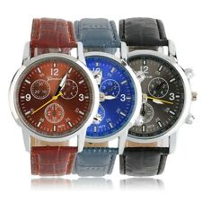 Cool Quartz Wrist Watch With Analog Round Dial And Leather Watch Band I#