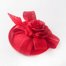 Lady Handmade Party Fascinator Hair Accessory Clip Pillbox Hat Flower Hair pin