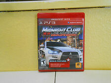 PLAYSTATION 3 MIDNIGHT CLUB LOS ANGLELESCOMPLETE EDITION  PS3 VIDEO GAME